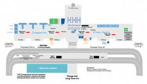 Dayton Airport Arrivals and Departures map