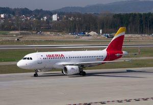 madrid barajas airport arrivals iberia airplane runway