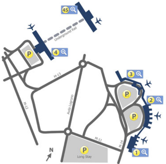 madrid barajas arrivals and departures map with terminals