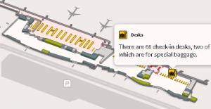Fuerteventura airport departures FUE terminal floor 0 map