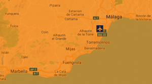 Malaga-airport-location-map