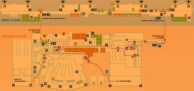 Queen-Beatrix-aruba-airport-departures-aua-map