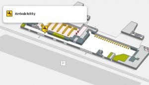 girona airport arrivals GRO terminal map floor 0