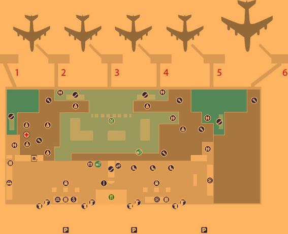 skopje airport arrivals SKP terminal map ground floor