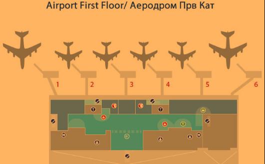 skopje airport departures SKP terminal first floor