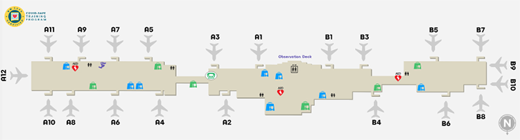Albuquerque-airport-departures-ABQ-floor-3-concourses