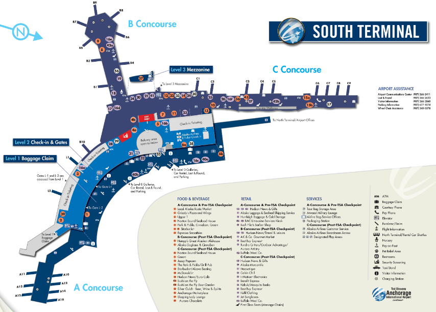 Anchorage-airport-ANC-departures-north-terminal-map