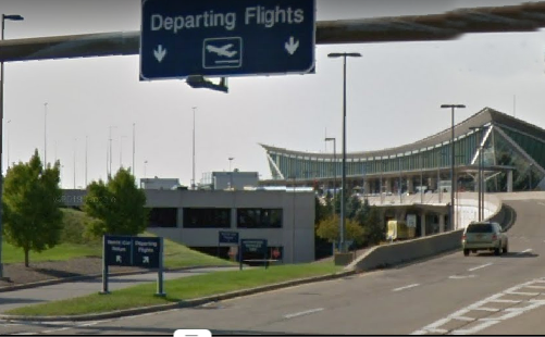 Buffalo-Niagara-Airport-departures-outside-road-sign