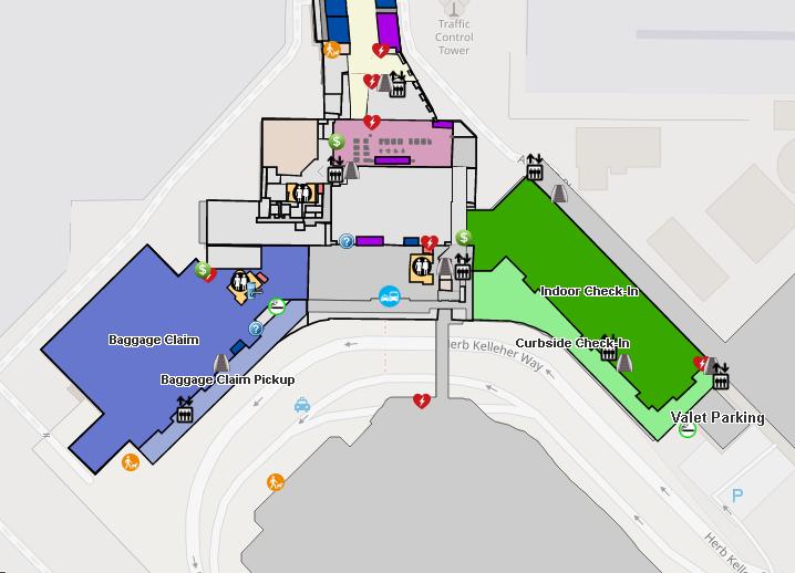 Dallas-Love-Field-Airport-Arrivals-DAL-baggage-claim-&-checkin-map