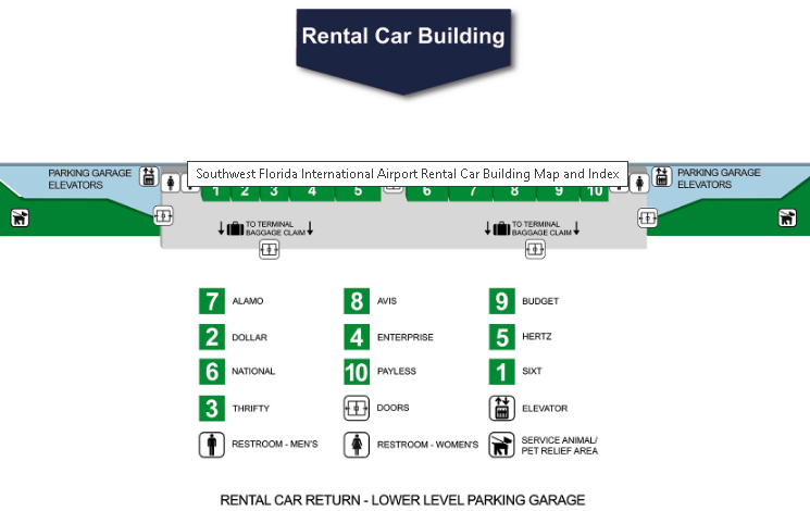 Fort-Myers-Airport-Arrivals-RSW-rental-car-companies
