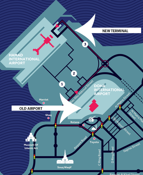 Hamad-and-Doha-airport-departures-and-arrivals-map