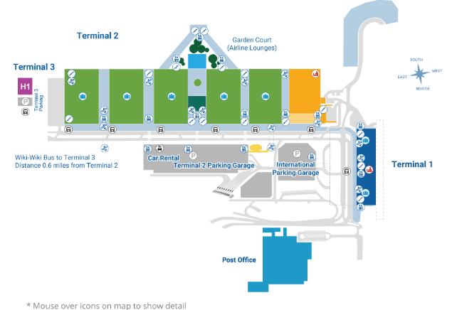 Honolulu-Airport-arrivals-HNL-terminal-floor-1-baggage-claim