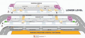 Milwaukee-Airport-MKE-terminal-map-lower-level-baggage-claim-and-ticketing