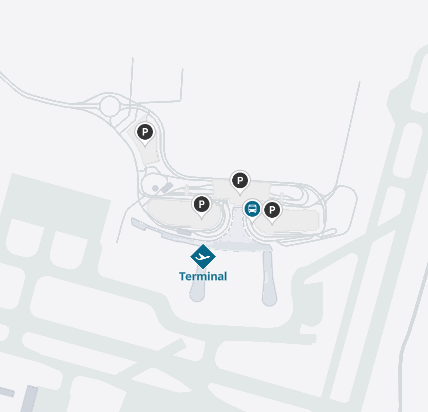 New-Orleans-Airport-MSY-arrivals-map-parking-area