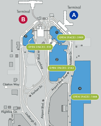 Sacramento-Airport-Arrivals-SMF-parking-map