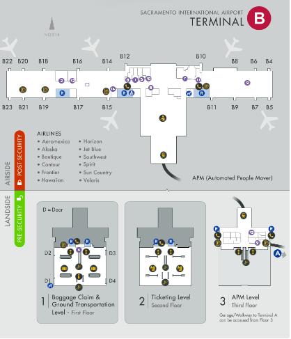 Sacramento-Airport-Departures-SMF-Terminal-B