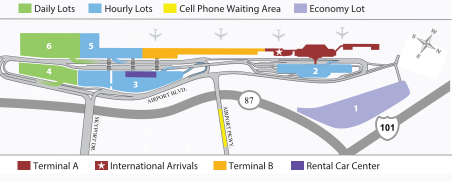 San-Jose-Airport-Arrivals-parking-map