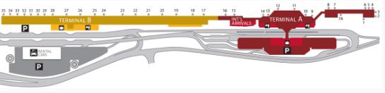 San-Jose-Airport-departures-map