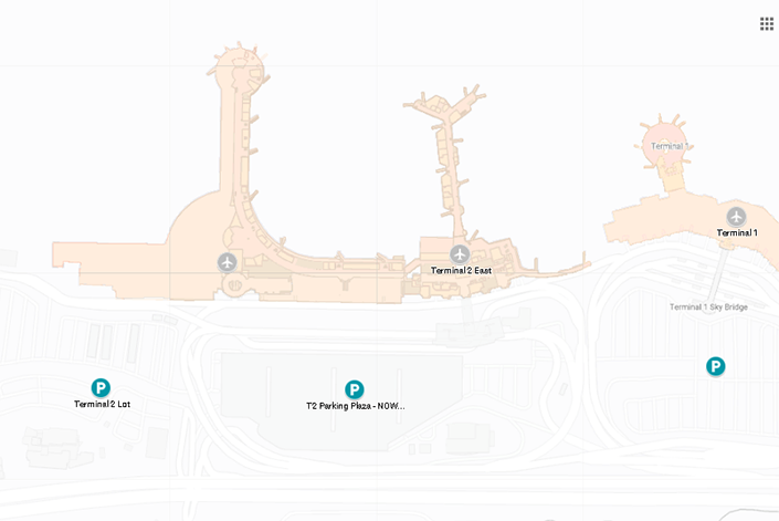 San-diego-airport-arrivals-SAN-terminal-1-&-2-and-parking-areas