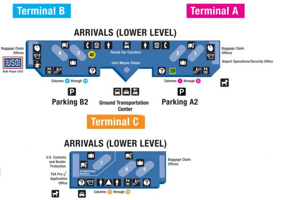 Santa-Ana-John-Wayne-Airport-arrivals-SNA-terminal