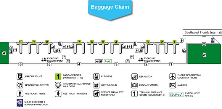 Southwest-Florida-Airport-Arrivals-RSW-terminal-baggage-claim