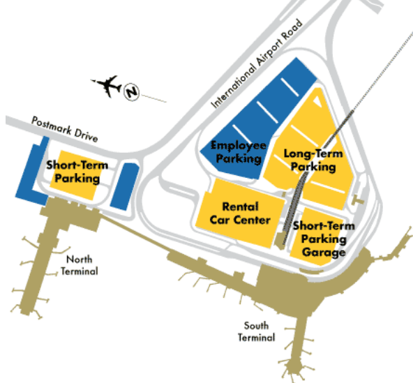Ted-Stevens-Anchorage-airport-arrivals-parking-map