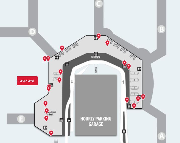 Washington-Baltimore-Airport-Arrivals-BWI-terminal-lower-level