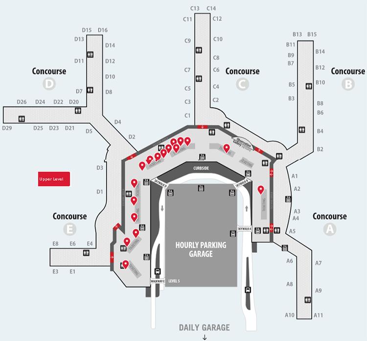 Washington-Baltimore-Airport-Departures-BWI-terminal-upper-level