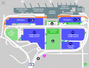 cape town airport arrivals cpt terminal and parking map
