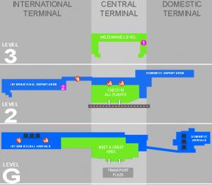 cape town airport arrivals cpt terminal floor map