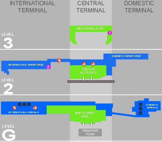 cape town airport arrivals cpt terminal floor map