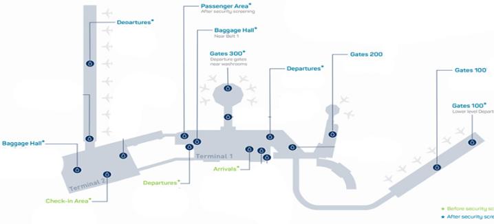 dublin airport arrivals DUB terminal map