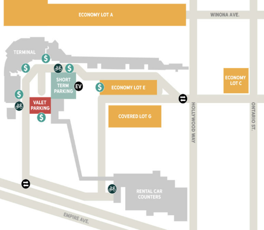 hollywood-burbank-airport-departures-BUR-parking-areas