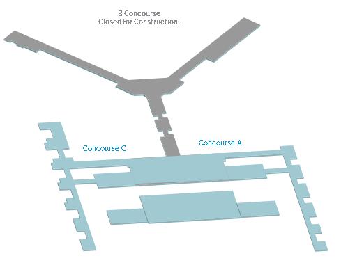 memphis-airport-departures-MEM-terminal-concourses-map