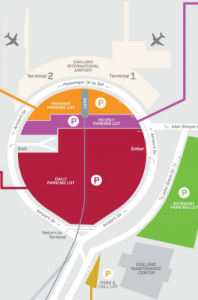 oakland-airport-arrivals-OAK-terminal-map-parking-areas