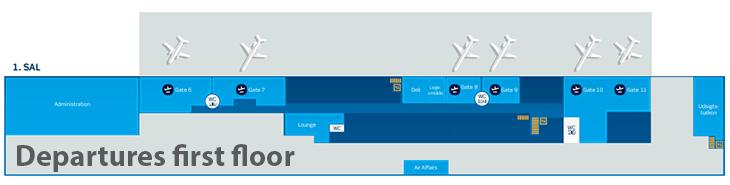 Aalborg-Airport-Departures-AAL-terminal-map-first-floor
