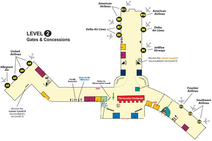 Albany-Airport-Departures-ALB-terminal-level-2-gates