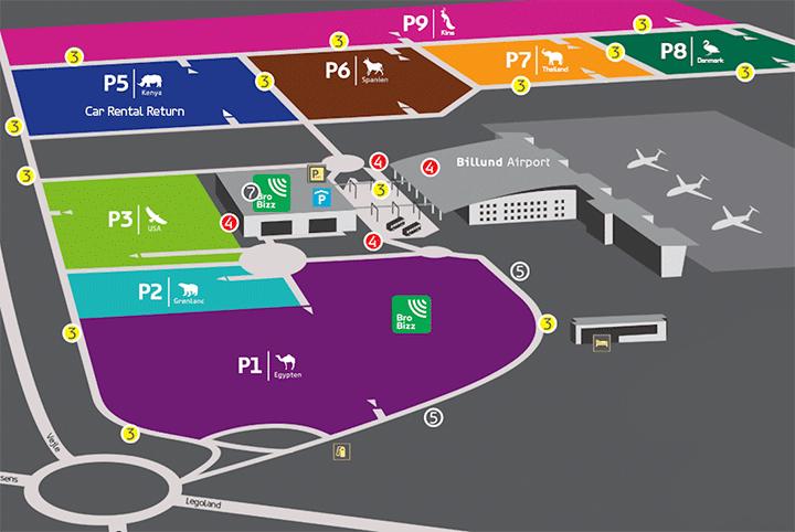 BLL-Arrivals-Billund-Airport-parking-map