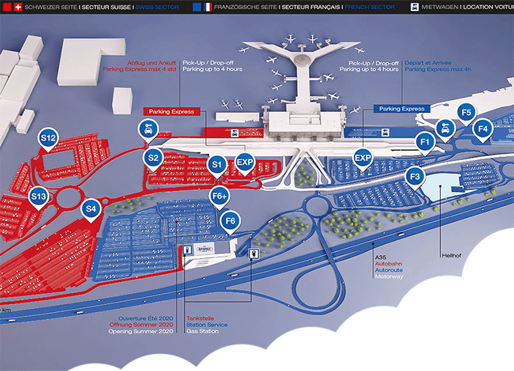 BSL-Arrivals-Basel-Airport-&-MLH-arrivals-Mulhouse-airport-parking-area
