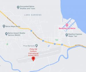BZE-Arrivals-Belize-(Philip-S.-W.-Goldson-Airport)-location-map