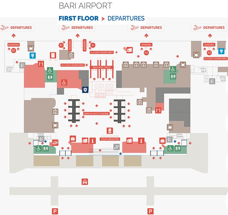 Bari-Airport-Departures-BRI-terminal-map-first-floor