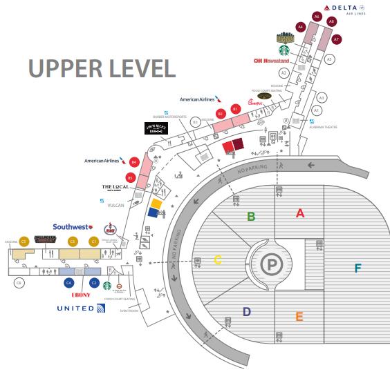 Birmingham-Airport-Departures-BHM-(Shuttlesworth,-US)-upper-level-boarding-gates