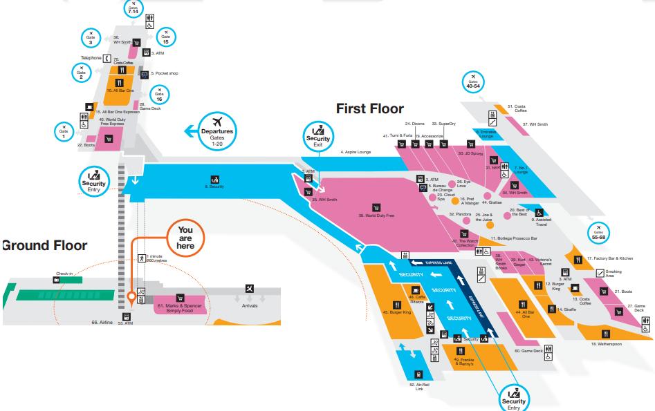 Birmingham-Airport-Departures-BHX-terminal-first-floor-gates