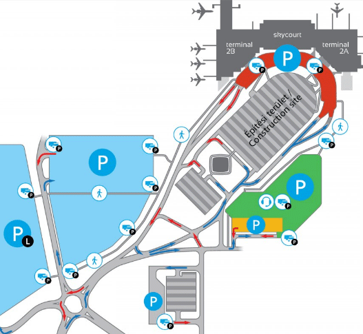 Budapest-Airport-Arrivals-BUD-Parking-Map