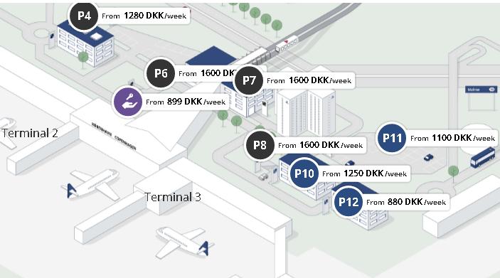 Copenhagen-Airport-Arrivals-CPH-parking-map