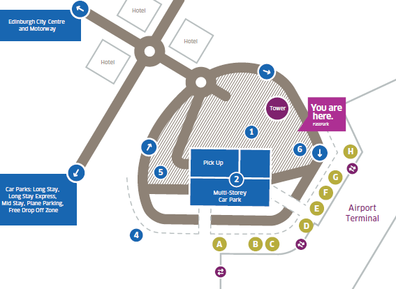 Edinburgh-Airport-Arrivals-EDI-map-parking-area