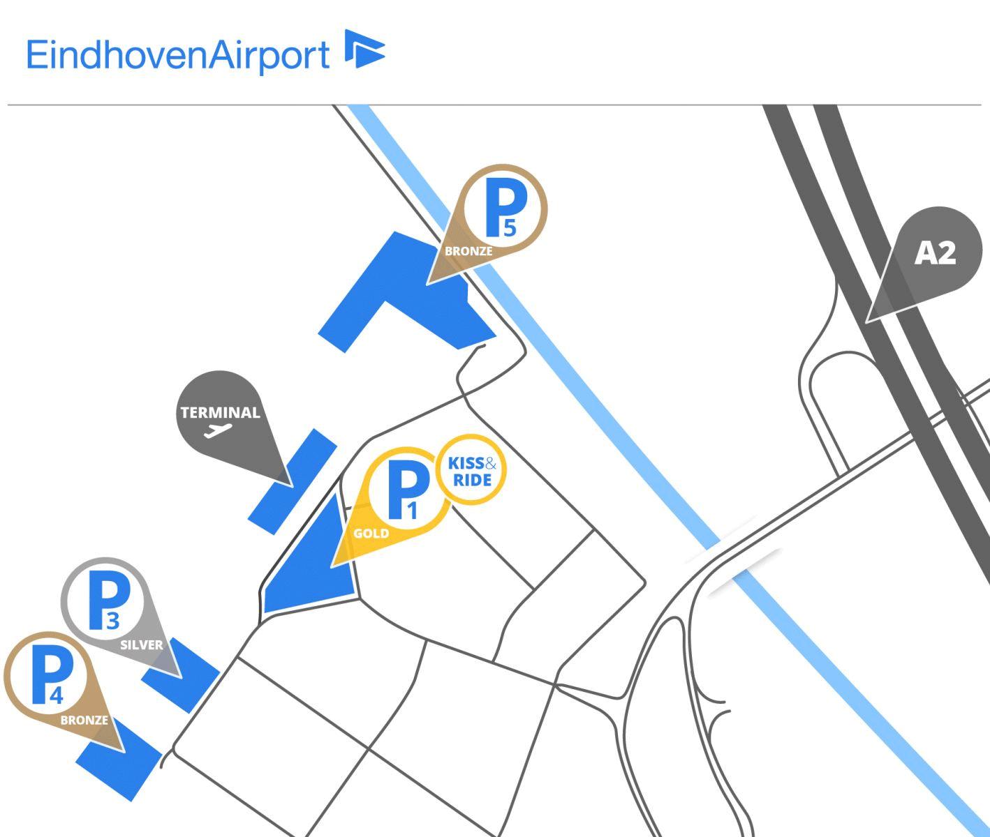 Eindhoven-Airport-Arrivals-EIN-parking-map