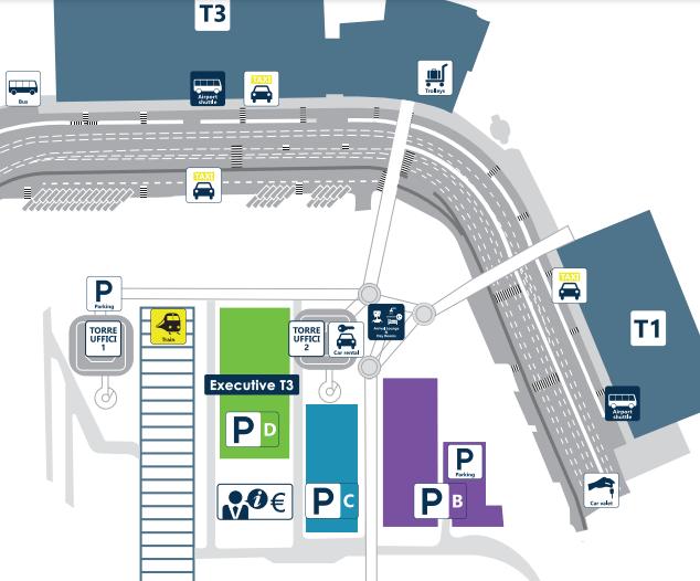 Fiumicino-Arrivals-Rome-Airport-map