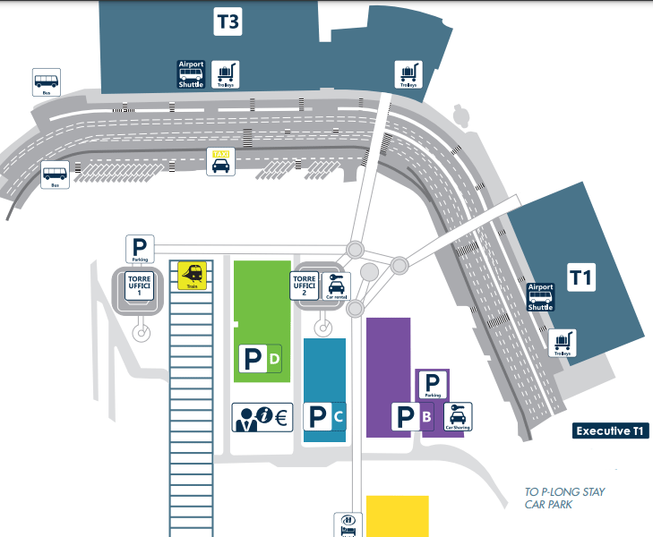 Fiumicino-Departures-Rome-Airport-parking-map