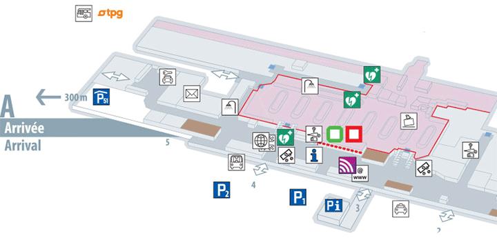 GVA-Arrivals-Geneva-Airport-map-arrival-level